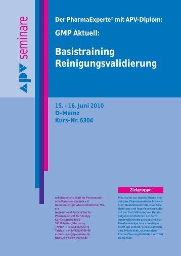 15. - 16. Juni 2010 D-Mainz Kurs-Nr. 6304 - APV