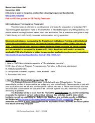 Memo from Alison Hall November, 2009 (this note is open to the ...