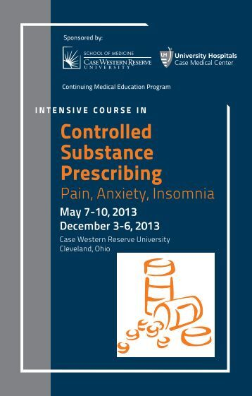 Controlled Substance Prescribing - Case Western Reserve ...
