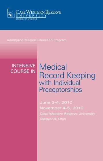 with Individual Preceptorships - Case Western Reserve University ...