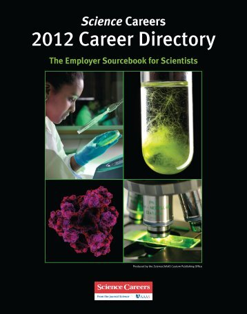 Science Careers 2012 Career Directory - Case Western Reserve ...