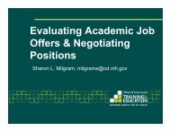 Evaluating Academic Job Offers & Negotiating Positions