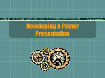 Developing a Poster Presentation By Casey Flinn George Mason ...