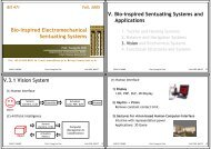 Bio-inspired Electromechanical Sentuating Systems V. Bio-inspired ...