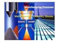 Manufacturing Processes Metal Powders, Ceramics, Glasses