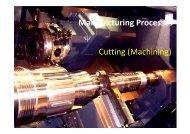 Manufacturing Processes Cutting (Machining)