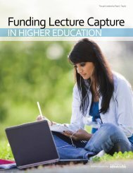 Funding Lecture Capture - Center for Digital Education