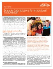 Scalable Data Solutions for Instructional Improvement - Center for ...