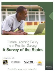 Online Learning Policy and Practice Survey - Center for Digital ...