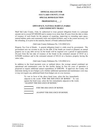 Chapman and Cutler LLP Draft of 08/20/12 - Elections