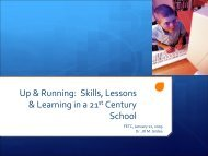 Up & Running: Skills, Lessons & Learning in a 21st Century School