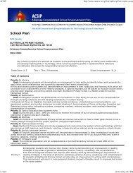 School Plan - Blytheville Public Schools
