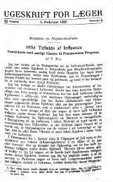 V. Bie: 1653 Tilfælde af Influenza