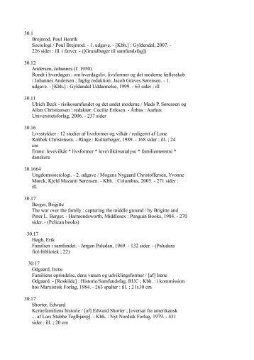 Familien 1960-2010 litteraturliste