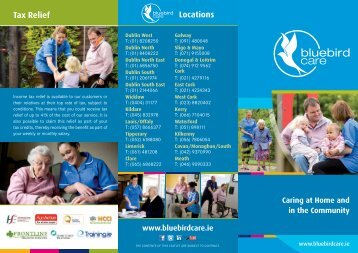 Tax Relief Locations - Bluebird Care