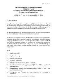 Technische Regel für Betriebssicherheit TRBS 1201 Teil 4 Prüfung ...
