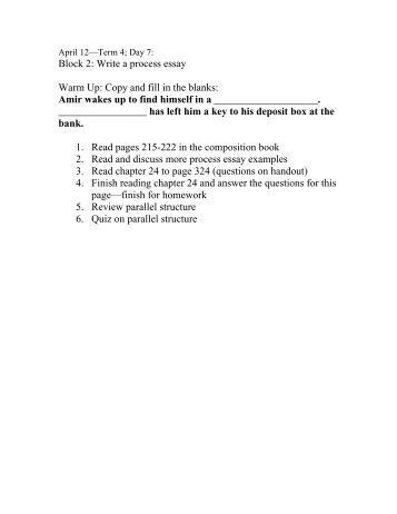process paper topics