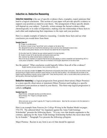 Collection of Inductive Vs Deductive Reasoning Worksheet - Sharebrowse
