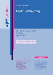 Gmp-Basistraining - APV