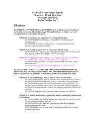 Health - Middletown High School - Frederick County Public Schools