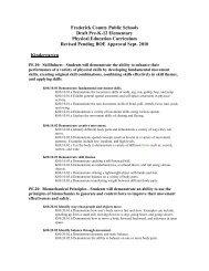 PE - Middletown High School - Frederick County Public Schools