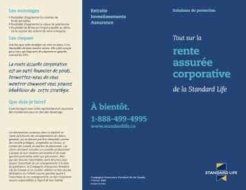 Concept de la rente assurée (F5626) - Standard Life