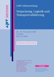 Verpackung, Logistik und Transportvalidierung - APV