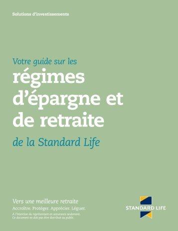 régimes d'épargne et de retraite - Standard Life Canada