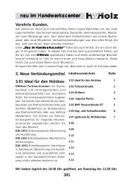 Z Verbindungsmittel neu - Handwerkscenter Holz GmbH