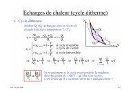 Echanges de chaleur (cycle ditherme)