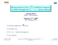 Measurement of the Bs-Bsbar oscillation frequency at LHCb ... - EPFL