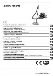 PerformAir Cyclonic vacuum cleaner Aspirateur ... - M6 Boutique
