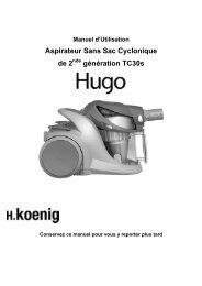 Manuel d'Utilisation Aspirateur Sans Sac Cyclonique ... - M6 Boutique