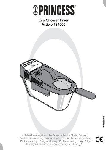 1082061 - PrincessEcoShowerFryer - IB184000 V0 ... - M6 Boutique