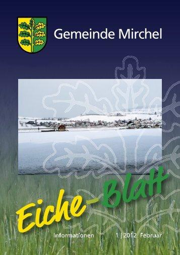 Eiche-Blatt Februar 2012 - Mirchel