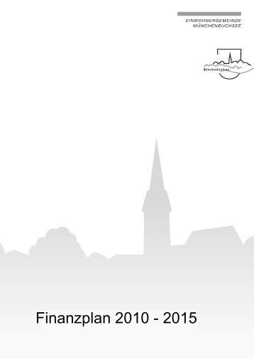 Finanzplan 2010 - 2015