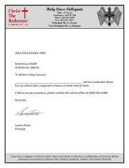 Criminal Record Check Letter