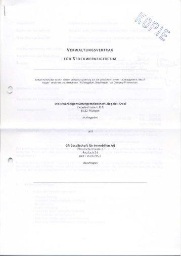verwaltungsvertrag für stockwerkeigentum - immoMARTI