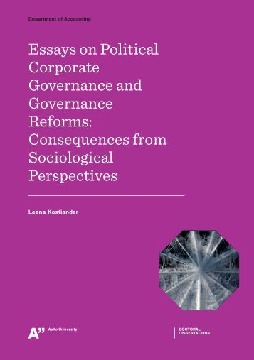 Essay on corporate governance