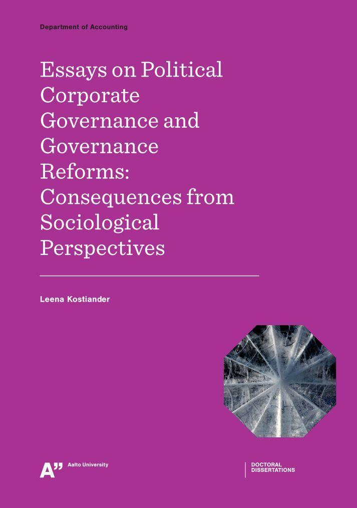 corporate governance 4 essay