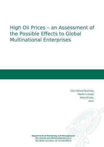 The Economic Impact of Rising Oil Prices