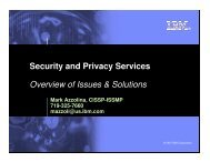 Security and Privacy Services - UC Joint Data Center Management ...