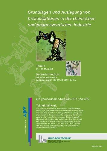 Grundlagen und Auslegung von Kristallisationen in der chemischen ...