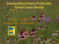 Interseeding Prairie Forbs into Native Grass Stands
