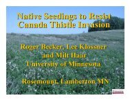 Native Seedings to Resist Canada Thistle Invasion - Applied Weed ...