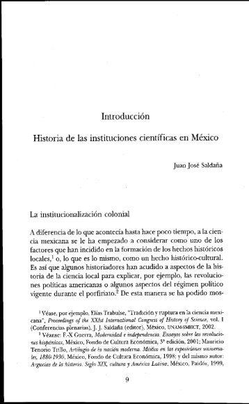Introducción. Historia de l - Dirección General de Bibliotecas - UNAM