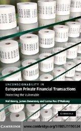 Unconscionability in European Private Financial Transactions ...