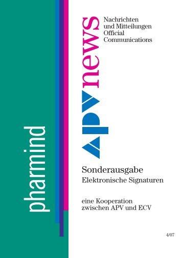 Elektronische Signatur Version 1.0 Oktober 2007 - APV