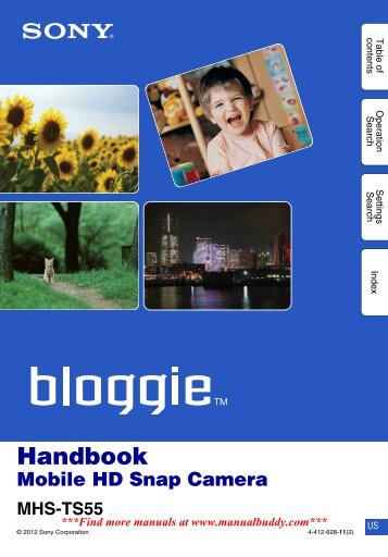 manual for the Sony Bloggie TS55. - Amazon Web Services