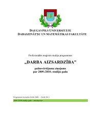 """""""DARBA AIZSARDZĪBA"""" - Daugavpils Universitāte"""